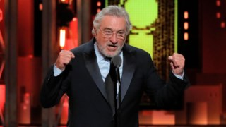 Robert de Niro na entrega dos Tony Awards