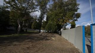 Zona do estaleiro, onde irá ficar um jardim para as crianças