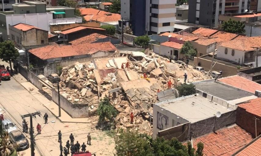 Pelo menos um morto no desabamento de prédio de sete andares no Brasil