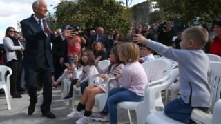 Marcelo inaugurou um jardim de infância destruído pelos incêndios