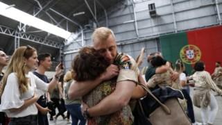 Foto de arquivo: militares regressam do Afeganistão