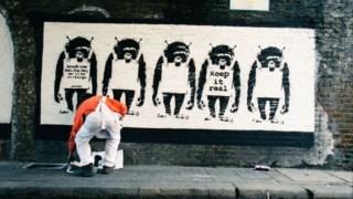 """Lazarides iniciou o seu trabalho com Banksy em 1997 e considera ter testemunhado """"os melhores anos"""" do artista"""