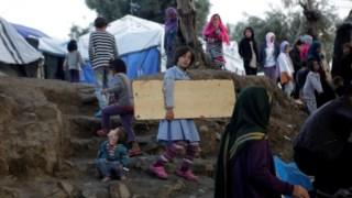 As condições nos campos gregos são degradantes