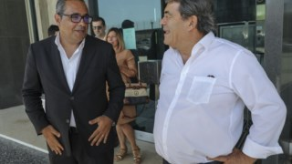 Marinho Pinto com Pardal Henriques na campanha das legislativas deste ano