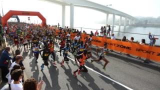 Atletas na prova da Meia Maratona do Porto, a 16 Setembro de 2018.