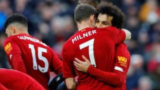 Salah marcou os dois golos do jogo