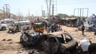 Carro explodiu na intercepção que liga a capital somaliana à localidade de Afgoye
