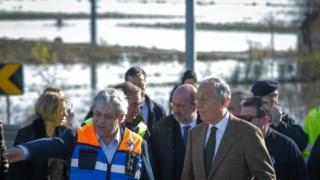 Marcelo Rebelo de Sousa visitou as zonas inundadas do Baixo Mondego, em Montemor-o-Velho