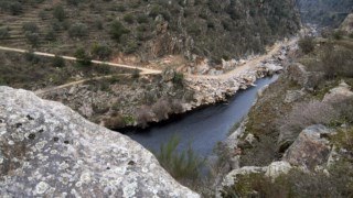 O rio Tua antes da construção da barragem