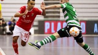 O Benfica derrotou o Sporting na final da Taça da Liga de futsal