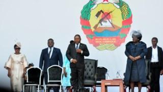 Filipe Nyusi na cerimónia de tomada de posse para o seu segundo mandato como Presidente de Moçambique