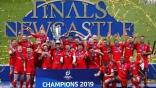 O clube festejou o título europeu em maio.