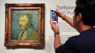 Este auto-retrato de Van Gogh pertence às colecções norueguesas desde 1910