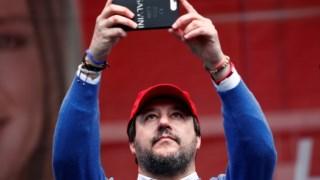Matteo Salvini durante a campanha