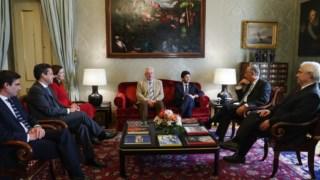 A nova direcção do CDS foi apresentar cumprimentos ao Presidente da República