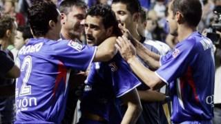 Daniel Guiza festeja o segundo dos quatro golos do Getafe