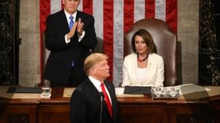 Donald Trump e Nancy Pelosi, líder da Câmara dos Representantes