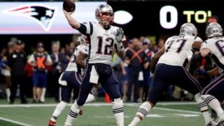 Brady em acção pelos Patriots