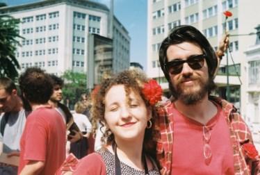 PÚBLICO - Madalena Rebelo e Guilherme Monteiro na Avenida da Liberdade, em 2018