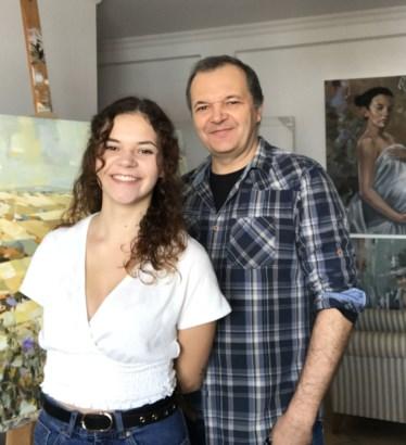PÚBLICO - Joaquim Rosa e a filha Beatriz, 19 anos