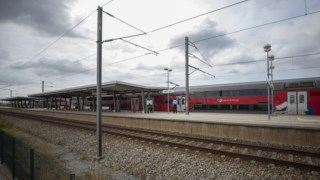 Estação de comboios na Azambuja