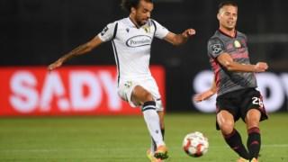 Momento do jogo entre o Famalicão e o Benfica