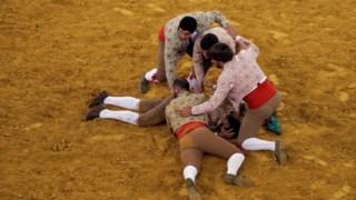 Os forcados vão fazer testes devido à proximidade que mantêm durante a tourada