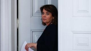 Catarina Martins na sede do Bloco de Esquerda, em Lisboa