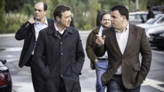 Marco Martins, à direita, recebeu movimento cívico do concelho