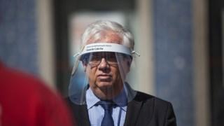 O ministro da Administração Interna, Eduardo Cabrita, esteve no posto de comando de Proença-a-Nova