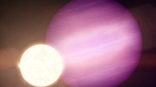 Ilustração do planeta a orbitar uma anã branca