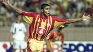 Jardel após ter marcado um golo ao Real Madrid, no Mónaco