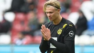 Erling Haaland incrédulo perante a primeira derrota do Borussia