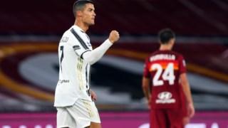 Cristiano Ronaldo bisou em Roma