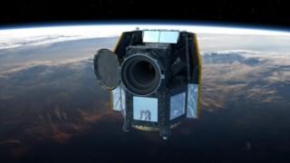 Imagem artística do telescópio espacial CHEOPS