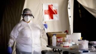Cruz Vermelha reservou meio milhão de testes