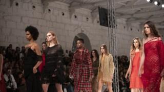 Desfile da marca Pé de Chumbo, criada pela designer Alexandra Oliveira, no Portugal Fashion, em Outubro de 2019