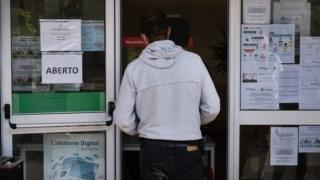 Acompanhando a tendência do inquérito do INE, também o número de desempregados registados nos centros de emprego tem vindo a subir