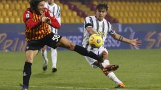 A Juventus ficou-se pelo empate contra o Benevento