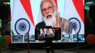 """Primeiro-ministro indiano congratulou-se com a """"demonstração de capacidade"""" de vacinação da Índia"""