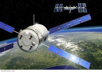 O cargueiro vai ficar acoplado à ISS até Junho