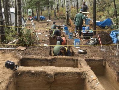 Sítio arqueológico onde foram encontrados os ossos