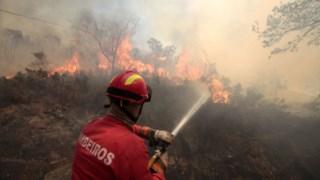 O número de incêndios é diminuto para um dia em que as temperaturas continuam altas