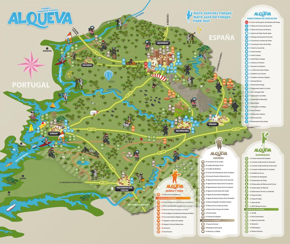 alqueva mapa Espanhóis instalam parque natural em Olivença que inclui parte da  alqueva mapa