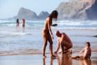 Na praia das Adegas, Odeceixe, Algarve