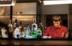 O bar onde se preparam as bebidas