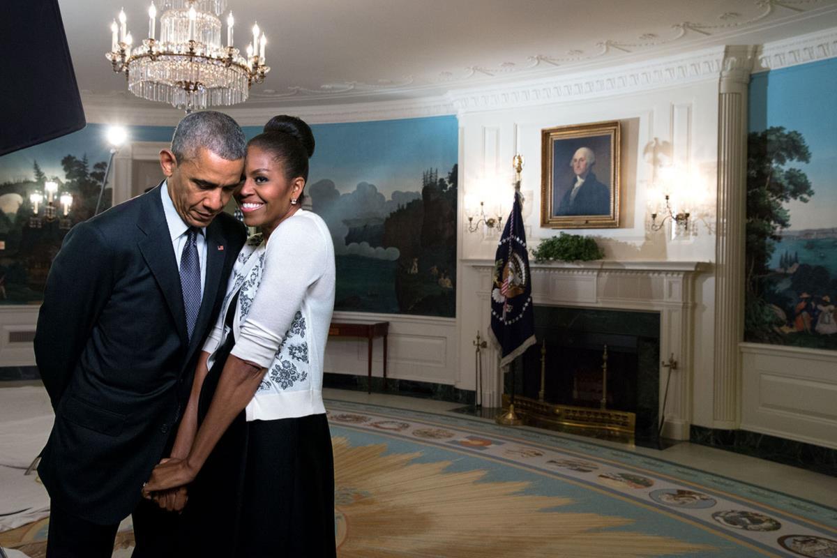 Obama e Michelle em Fevereiro de 2015