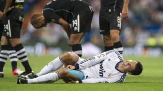 Cristiano Ronaldo lesionou-se contra o Granada