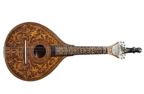 Guitarra de 1890, pertencente ao espólio de Pedro Caldeira Cabral