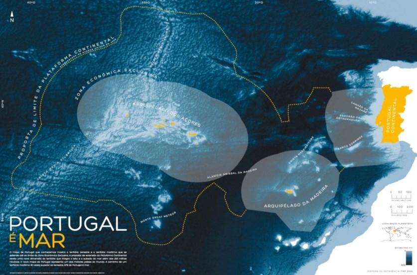 Mapa De Portugal Continental Completo.Mapa Onde Se Mostra Que 97 De Portugal E Mar Chega Hoje As